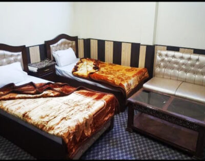 Luxury Rooms at Madina Tower Hotel in Behrain Swat ( Family Room )