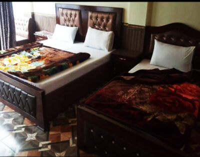 Luxury Rooms at Madina Tower Hotel in Behrain Swat ( Family Room)