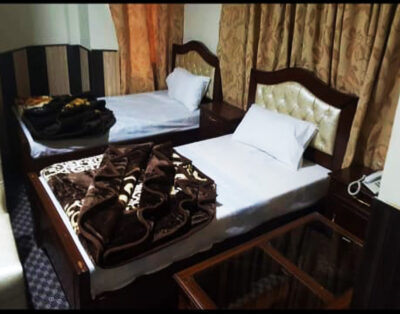 Luxury Rooms at Madina Tower Hotel in Behrain Swat ( Double Beds Room )